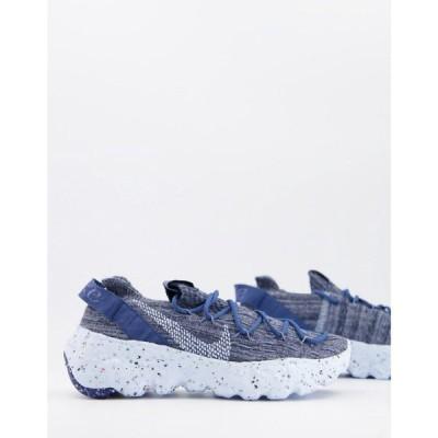 ナイキ Nike レディース スニーカー シューズ・靴 Space Hippie 04 Flyknit Sneakers In Grey And Blue