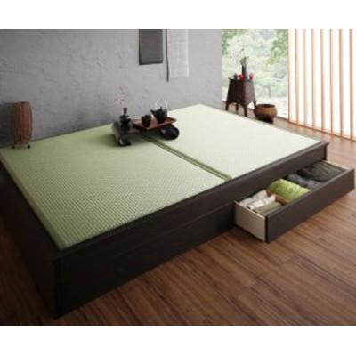 〔組立設置料込み〕美草・日本製 小上がりにもなるモダンデザイン畳収納ベッド 〔花水木〕ハナミズキ シングル 〔畳色〕グリーン