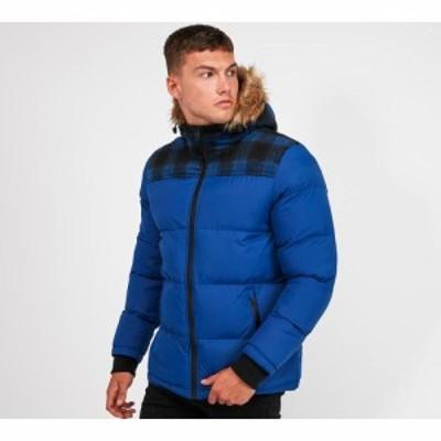 ブレイブソウル Brave Soul メンズ ダウン・中綿ジャケット アウター mjk-trey padded jacket Cobalt Blue