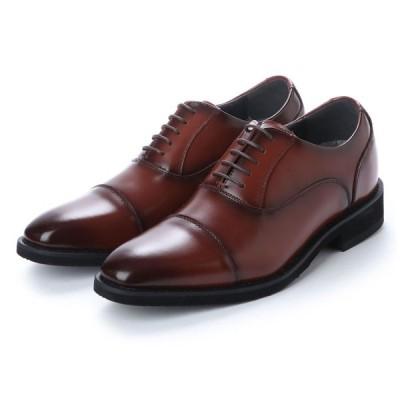 新発売 6cmアップ AN4506 ANTIBA SEGRETO 日本製 本革撥水ヒールアップ シークレットシューズ インヒール ビジネスシューズ 紳士靴 結婚式 靴 ブラウン