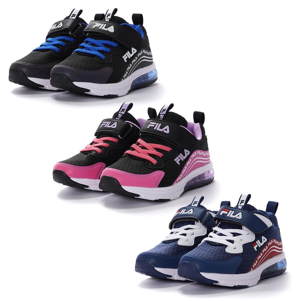 FILA MD 兒童 運動 氣墊 慢跑鞋 童鞋 3-J405V-001 黑藍 029 黑桃 123 藍白紅
