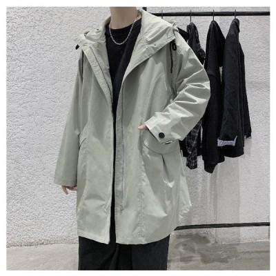 スプリングコート ロングコート メンズ 薄い 日焼け防止服 秋 コート 春 コート アウター紳士コート ダスターコート 大きいサイズ 人気 無地 流行