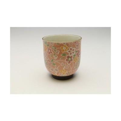 桜染 色絵湯呑・紅 3点セット