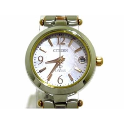 シチズン CITIZEN 腕時計 美品 EXCEED(エクシード) H058-T018602 レディース ホワイトシェル【還元祭対象】【中古】20200926