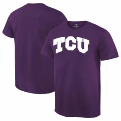 Fanatics Branded ファナティクス ブランド スポーツ用品  TCU Horned Frogs Purple Basic Arch T-Shirt