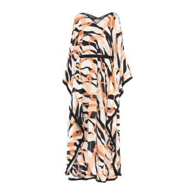ロベルト カヴァリ ROBERTO CAVALLI ロングワンピース&ドレス キャメル 42 シルク 100% / レーヨン / ナイロン ロングワ