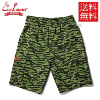 クックマン COOKMAN Cargo Ripstop Tiger Camo Green シェフ ショートパンツ カーゴ ショーツ リップストップ タイガー カモ グリーン 迷彩 緑 Chef Short Pants