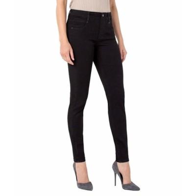リバプール デニムパンツ ボトムス レディース Petite Gia Glider Pull-On Skinny Jeans in Black Rinse Black Rinse