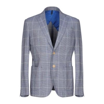DOMENICO TAGLIENTE テーラードジャケット ブルー 50 コットン 100% テーラードジャケット