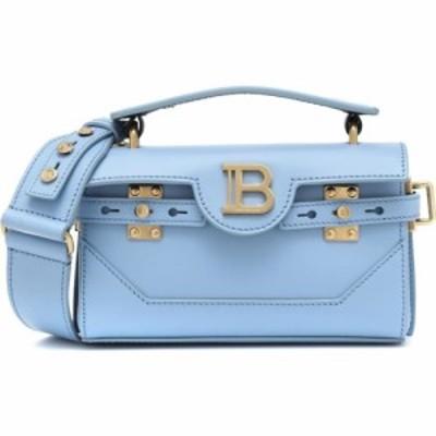 バルマン Balmain レディース ショルダーバッグ バッグ bbuzz 19 leather shoulder bag Blue Glacier