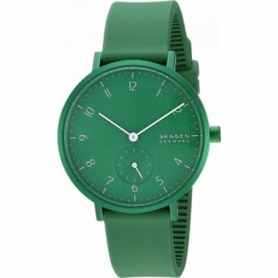 スカーゲン Skagen レディース 腕時計 Aaren Kulor 36mm Three-Hand Silicone Watch SKW Green Silicone