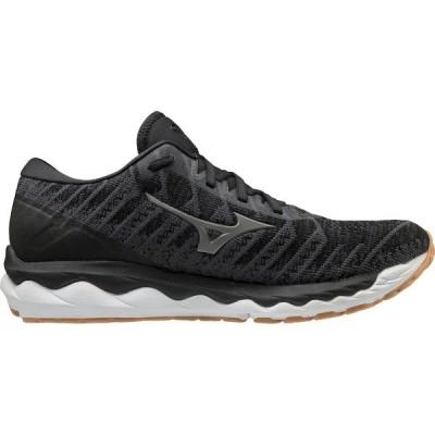 ミズノ シューズ メンズ ランニング Mizuno Men's Wave Sky 4 Waveknit Running Shoes Black 01
