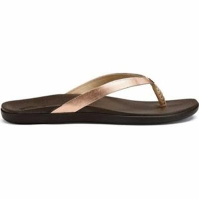 オルカイ ビーチサンダル Hoopio Leather Flip-Flop Copper Leather