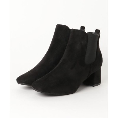 ZealMarket/SFW / 6cmチャンキーヒールスクエアトゥサイドゴアブーツ WOMEN シューズ > ブーツ
