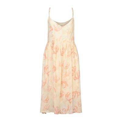 OTTOD'AME 7分丈ワンピース・ドレス ベージュ 38 レーヨン 100% 7分丈ワンピース・ドレス