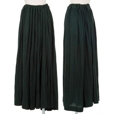 ワイズY's ウールニットフレアスカート 緑3 【レディース】
