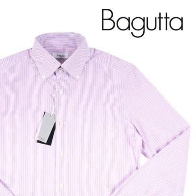 【37】 Bagutta バグッタ 長袖シャツ メンズ ストライプ ピンク 並行輸入品 カジュアルシャツ