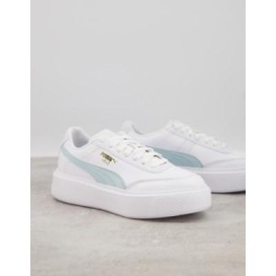 プーマ レディース スニーカー シューズ Puma Osla Maja sneakers in white and blue White/aqua