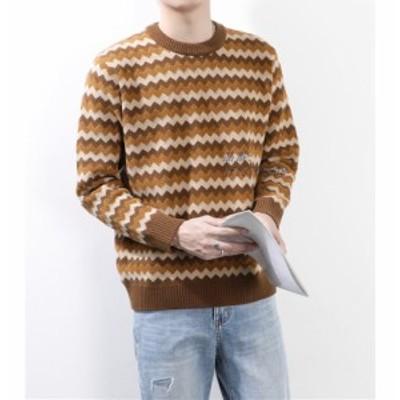 ニットセーター メンズ セーター ニット 長袖 トップス メンズニット おしゃれ 防寒 あったか 無地 シンプル 冬新作