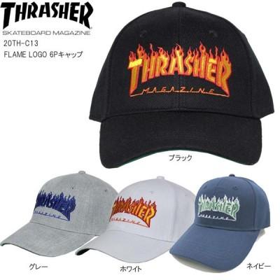 正規品 あすつく スラッシャー キャップ 帽子 CAP THRASHER 20TH-C13 FLAME LOGO 6Pキャップ 男女兼用