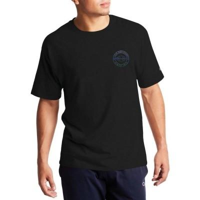 チャンピオン シャツ トップス メンズ Champion Men's Classic Circle Graphic T-Shirt Black