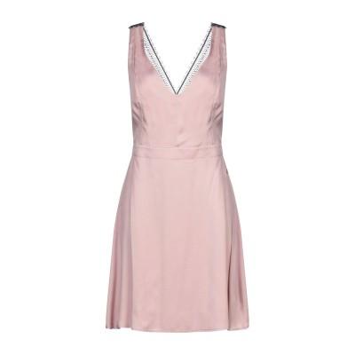 PLEASE ミニワンピース&ドレス ライトピンク L レーヨン 100% ミニワンピース&ドレス