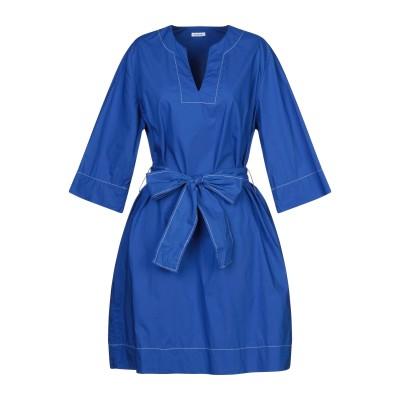 パロッシュ P.A.R.O.S.H. ミニワンピース&ドレス ブルー XL コットン 100% ミニワンピース&ドレス