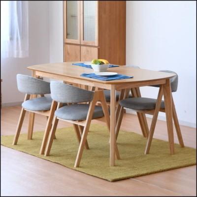 ダイニングテーブル5点セット ダイニングセット 食卓 テーブル チェア 4人用 オーク材 北欧 木製 おしゃれ 送料無料(一部地域を除く)