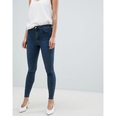 エイソス レディース デニムパンツ ボトムス ASOS DESIGN 'Sculpt me' high waisted premium jeans in london blue