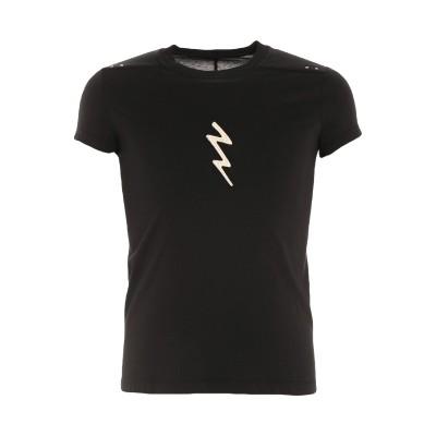 リック オウエンス RICK OWENS T シャツ ブラック S コットン 100% / ポリエステル T シャツ
