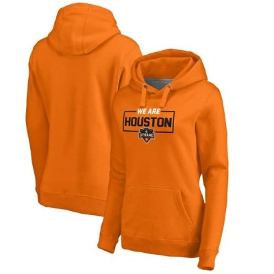 レディース スポーツリーグ サッカー Houston Dynamo Fanatics Branded Women's We Are Pullover Hoodie - Orange トレーナー
