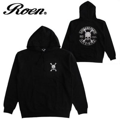 Roen ロエン メンズ パーカー スウェット プルオーバー レディース ロゴ ファッション プリント スカル カジュアル ギフト プレゼント