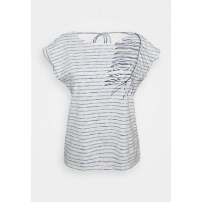 エスプリ Tシャツ レディース トップス STRAPBOW - Print T-shirt - off white