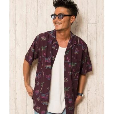 【シルバーバレット】 CavariAレーヨンオープンカラー半袖シャツ メンズ その他系1 46(L) SILVER BULLET