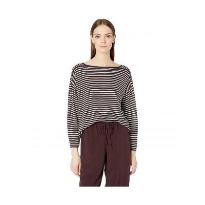 Eileen Fisher アイリーンフィッシャー レディース 女性用 ファッション Tシャツ Bateau Neck Top - Cassis