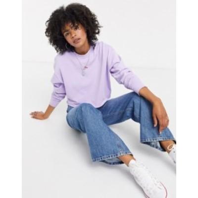 トップショップ レディース シャツ トップス Topshop chilli pepper sweatshirt in purple Purple