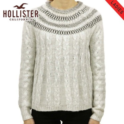 ホリスター レディース HOLLISTER 正規品 セーター Cable Swing Sweater 350-507-0573-118