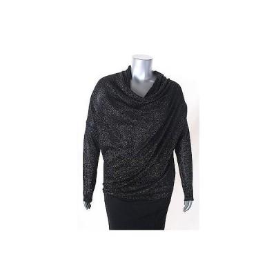 カレンケーン セーター ニット Karen Kane ブラック マルチ メタリック Drape Neck セーター サイズ XL 98LAFO
