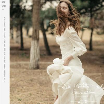 大きいサイズ 結婚式 エンパイア 海外挙式 二次会 花嫁 ドレス Aラインドレス ロングドレス ウェティグドレス パーティードレス 花嫁 ワンピース 白 安い