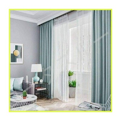 BEIGOO European Style Curtain,Blackout Drapes 1Panels,with Grommet Hang Energy Efficient Modern Privacy Protection for Bedroom Living Room B