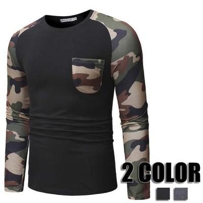 tシャツ メンズ 長袖 丸首 トップス tシャツ ミックスカラー Tシャツ メンズ スポーツ コットン 秋冬 Tシャツ ミックスカラー メンズファッション 2色