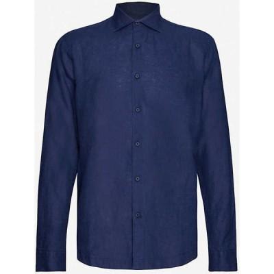オールバー ブラウン ORLEBAR BROWN メンズ シャツ トップス Giles tailored-fit linen shirt Navy