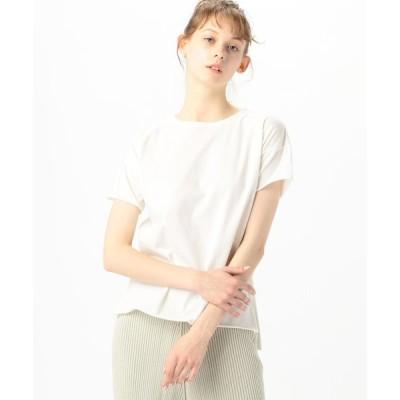 【TOMORROWLAND GOODS】v::room コットン ドロップショルダークルーネックTシャツ