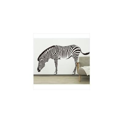 東京ステッカー 高級ウォールステッカー 動物 シマウマ Sサイズ *TS0012-HS  オールブラック  『おしゃれ かわいい』 『壁 シール』