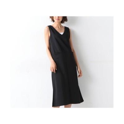 【大きいサイズ】 サイドスリット入りジャンパースカート ワンピース, plus size dress