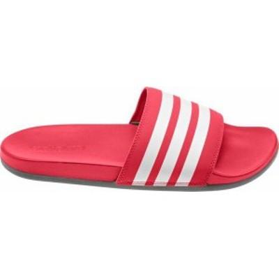 アディダス メンズ サンダル シューズ adidas Men's Adilette CloudFoam Plus Slides Scarlet/White
