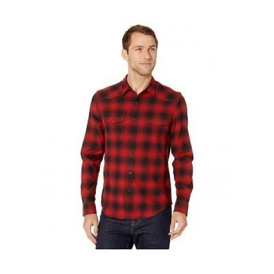 Lucky Brand ラッキーブランド メンズ 男性用 ファッション ボタンシャツ Santa Fe Western Shirt - Red/Black