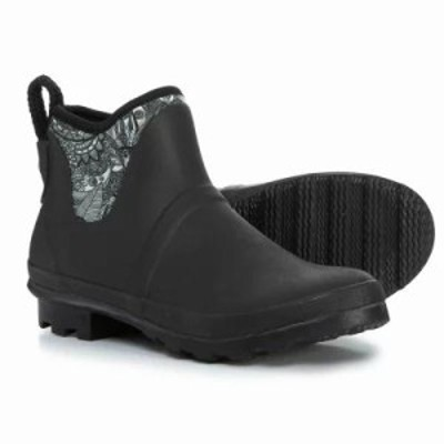 サックルーツ レインシューズ・長靴 Mano Ankle Rain Boots - Waterproof Black And White Spirit Desert