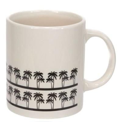 ハワイアン雑貨 Maka hou ヤシ柄 マグカップ パームツリー(IVORY) コーヒーカップ マリン ハワイ お土産 ハワイアン インテリア