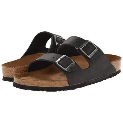 ビルケンシュトック Arizona Soft Footbed - Leather (Unisex) メンズ サンダル Black Oiled Leather